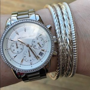 Michael Kors Stainless Steel Ritz Watch